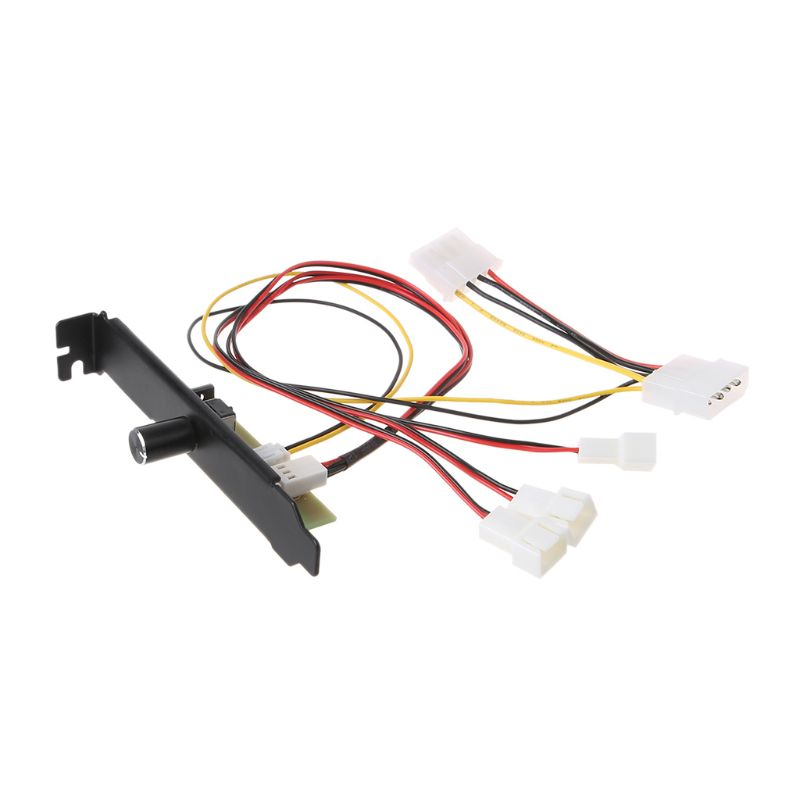 3 Channels PC Cooler Cooling Fan Speed Controller For CPU Case HDD VGA Fan For PCI Temperature Control Regulation 12V 3pin