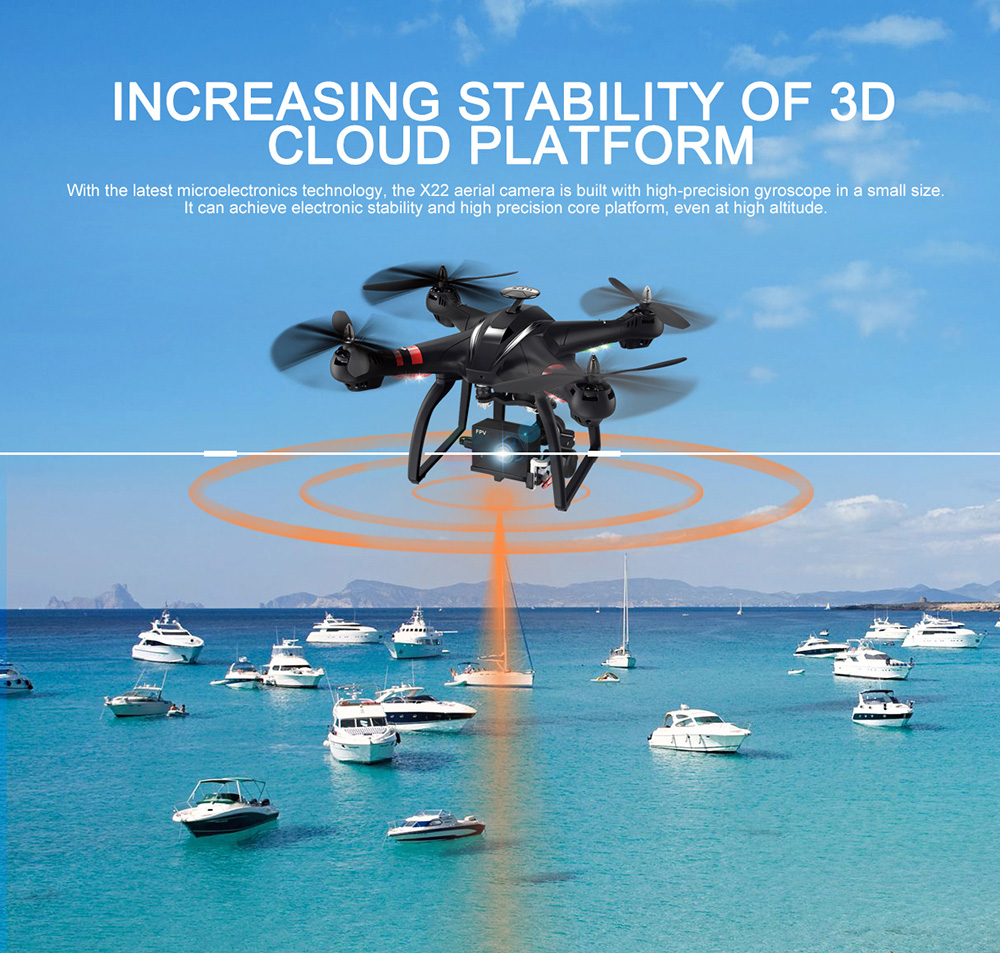 BAYANGTOYS X22 RC Quadcopter Drones Dual GPS WiFi FPV Brushless Follow Me Helicopters Racing Remote Control RC Drone Dron Toys 9