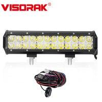 VISORAK 7D 12 Inch CREE Chips LED Light Bar 120w Combo Beam + Cross DRL LED Bar 4x4 Truck Wagon For Ford Jeep GMC Toyota SUV ATV