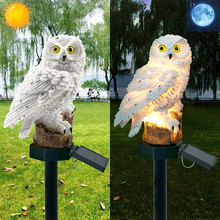 купить Owl Solar Light LED Garden Lights Ornament Lamp Solar Powered Panel Led Path Lawn Lamps Outdoor Waterproof Night Light Dropship по цене 632.92 рублей