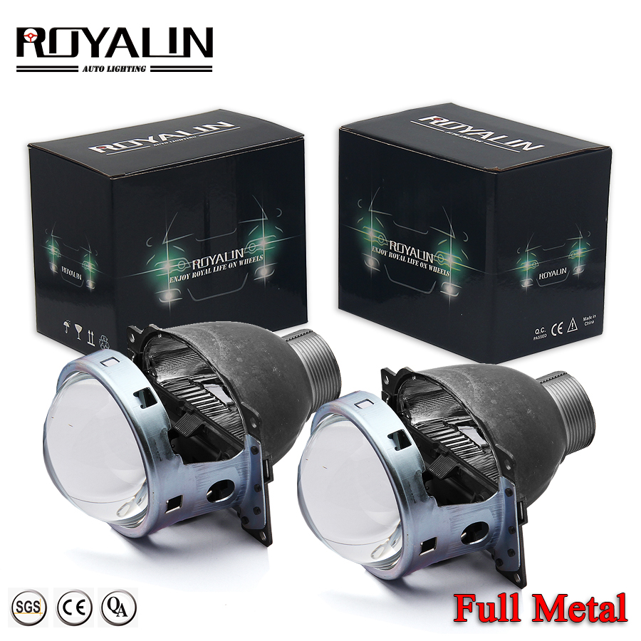 ROYALIN Car Styling Mini D2S 3.0 Bi Xenon Projector Lens For H4 Auto External Lights Use D2S/H Lamp For Iris GTI-R Smax Shrouds