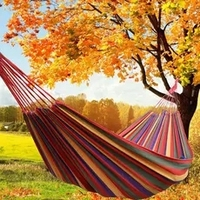 Portable Outdoor Garden Canvas Hammock Hang Bed Travel Camping Swing Survival Outdoor Sleeping