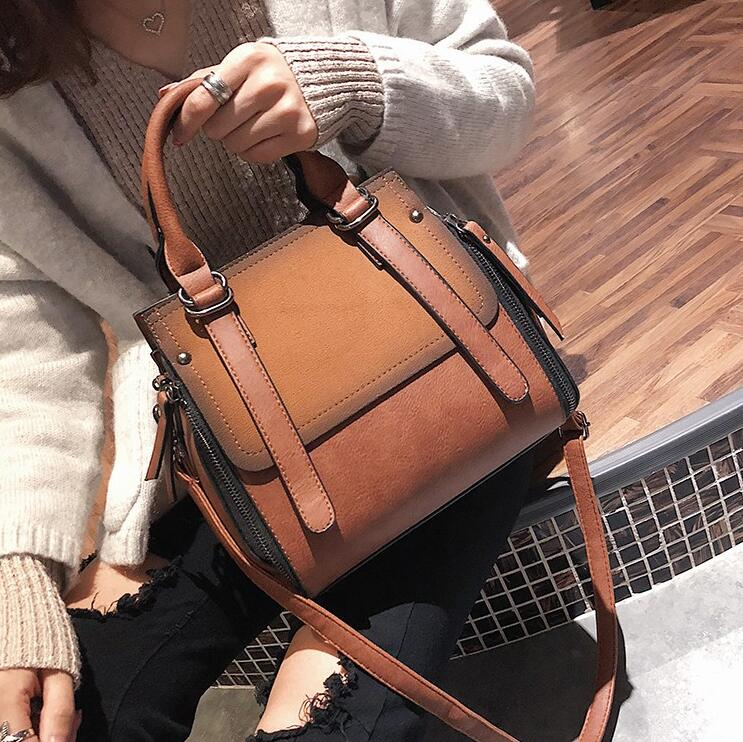 European Style Fashion New Women Handbags High Quality Matte PU Leather Portable Shoulder Bag Ladies Hit Color Big Tote Bag european style quality pu leather handbags women s designer handbag 2018 fashion new ladies high capacity tote bag shoulder bags