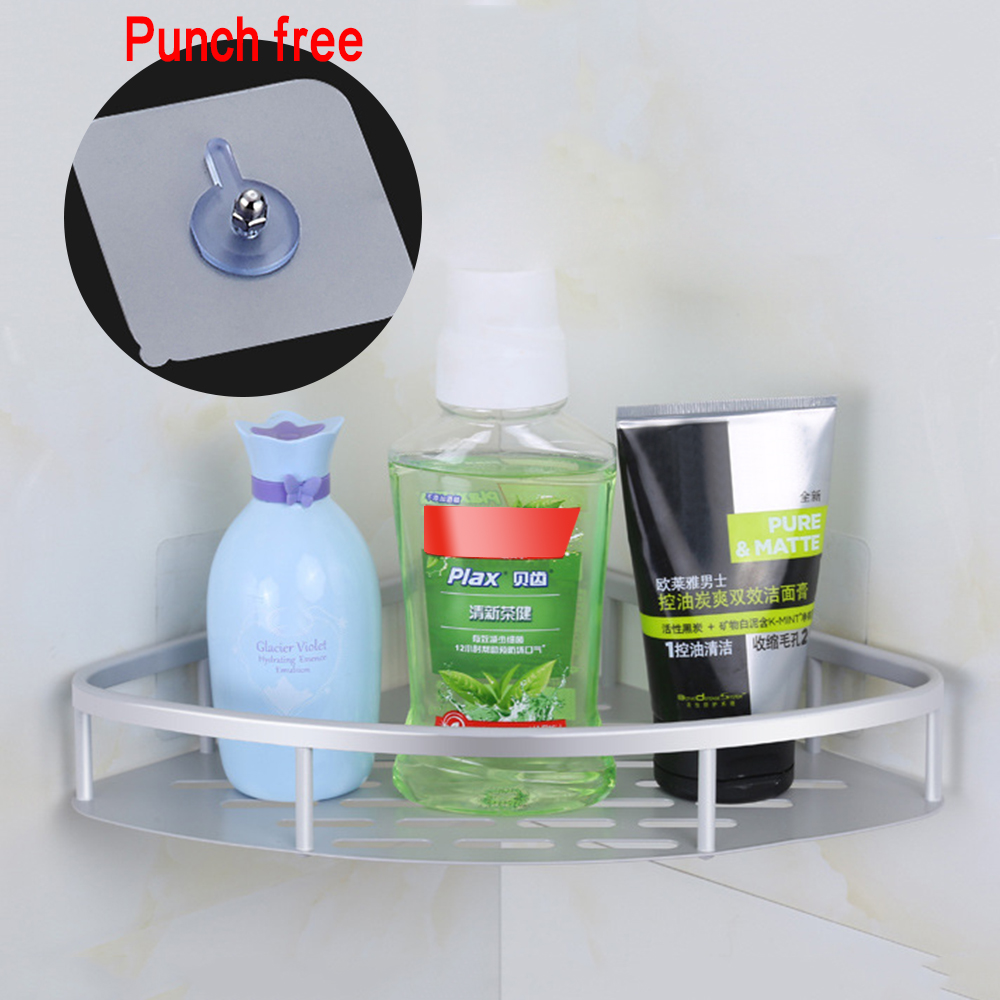 Bathroom Shelf Qrganizer Snap Up Corner Shelf Toilet Bathroom Vanity Tripod Storage Rack Suction Cup Wall Hanging Shampoo Holder