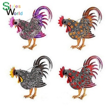 Здесь можно купить  Trendy big rooster  Brooch  mix color crystal Rhinestone brooches animal Brooches for women fashion brooch jewelry