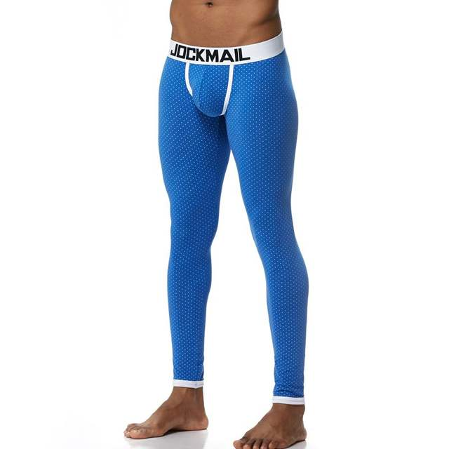 JOCKMAIL Brand Men Long Johns Cotton Sexy Dots leggings Thermal Underwear cueca Gay Men Thermo Underwear Long Johns Underpants