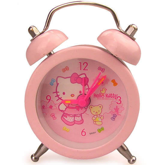 Special Offer Free Shipping 2015 Hot Sale Mini Cartoon Alarm Clock Hello  Kitty Small Desk Clock