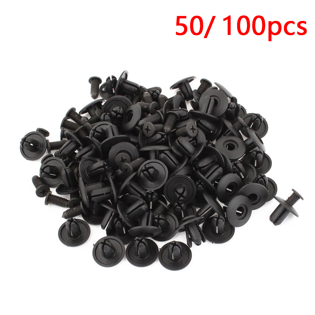 Dewtreetali 6mm 8mm Universal 50pcs/100pcs Plastic Car Rivet Fastener Car-styling Car Door Bumper Cover Fender Bumper Fixed Clip(China)