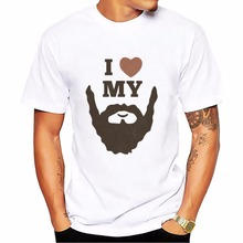 Funny Birthday Gifts For Men Dad Father Husband Bearded Sign Beard Rule Skull Tshirt T Shirt Homme Short Sleeve Beards T-Shirt