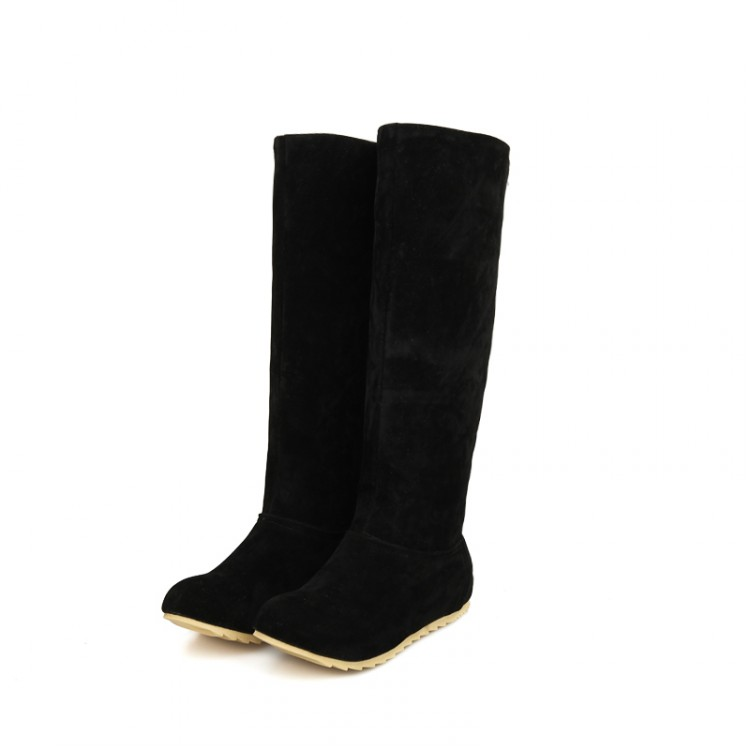 2017 Rushed Winter Boots Botas Mujer Size34-45 New Women Winter Flats Round Toe Fashion For Casual Shoes Sweet Platform 66-5