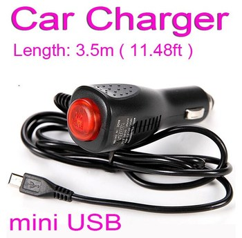Universal USB Charger Adapter For Car DVR Camera GPS Navigation Radar detector Input 12V - 24V Ouput 5V 2A, Cable Length 3.5m image