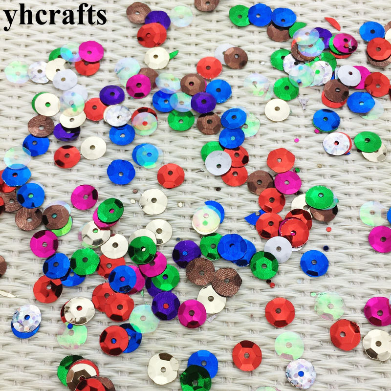 20gram/Lot. 8mm Concave Round Sequins Craft Material Kindergarten Crafts Creative Activity Item Color Learning Make Your Own OEM