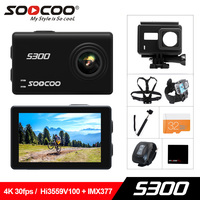 SOOCOO на S300 действие Камера 2,35 touch lcd Hi3559V100 + IMX377 4 К 30fps EIS Wi Fi 12MP CMOS дистанционного внешний микрофон Спорт cam