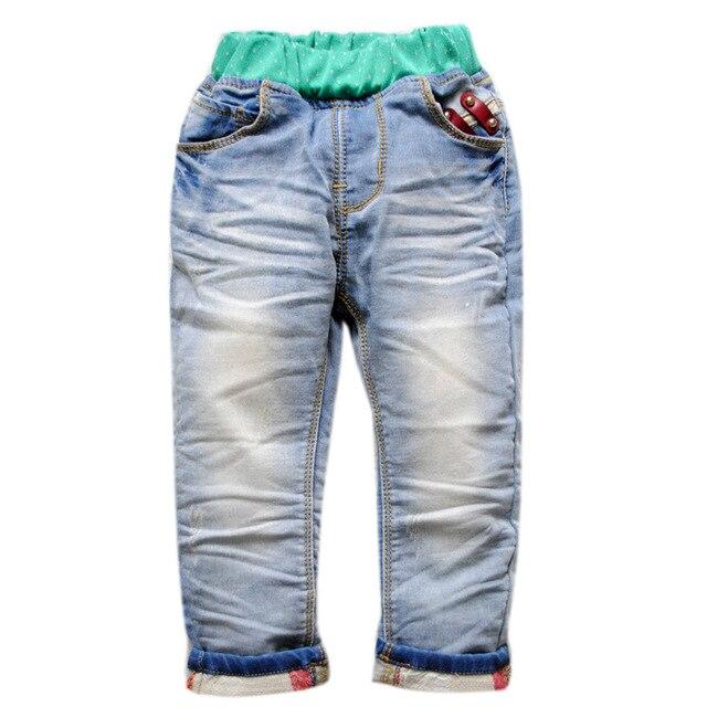 5980 ДЕТСКИЕ ДЖИНСЫ МАЛЬЧИК ДЖИНСЫ мягкие джинсовые брюки дети брюки весна осень turn ups дети брюки моды в нью-
