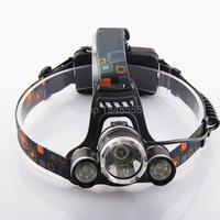 Ultra Bright Head Lamp Cree T6 3 Led HeadLights Head Lamp Torch Rechargeable Hoofdlamp Lampe Frontale