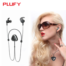 Plufy New Bluetooth V4.1 Headphone Wireless Necklace Earphone Sweatproof Headset Aptx HIFI 3D Stereo with MIC for Xiaomi iPhone