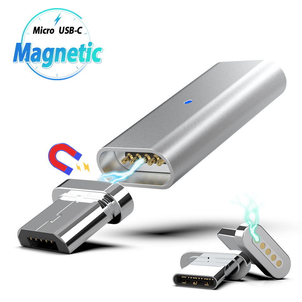 Micro USB Type C Magnetic Connector Adapter Magnet Usb Charging Cable Cabel Converter Usb C Adapter Cabo For Huawei Xiaomi Leeco