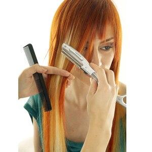 Image 2 - Бесплатная доставка ультразвуковой горячей вибрационный Бритва для волос с/человеческих волос США, ЕС Plug, тепла ножницами волосы триммеры L 538