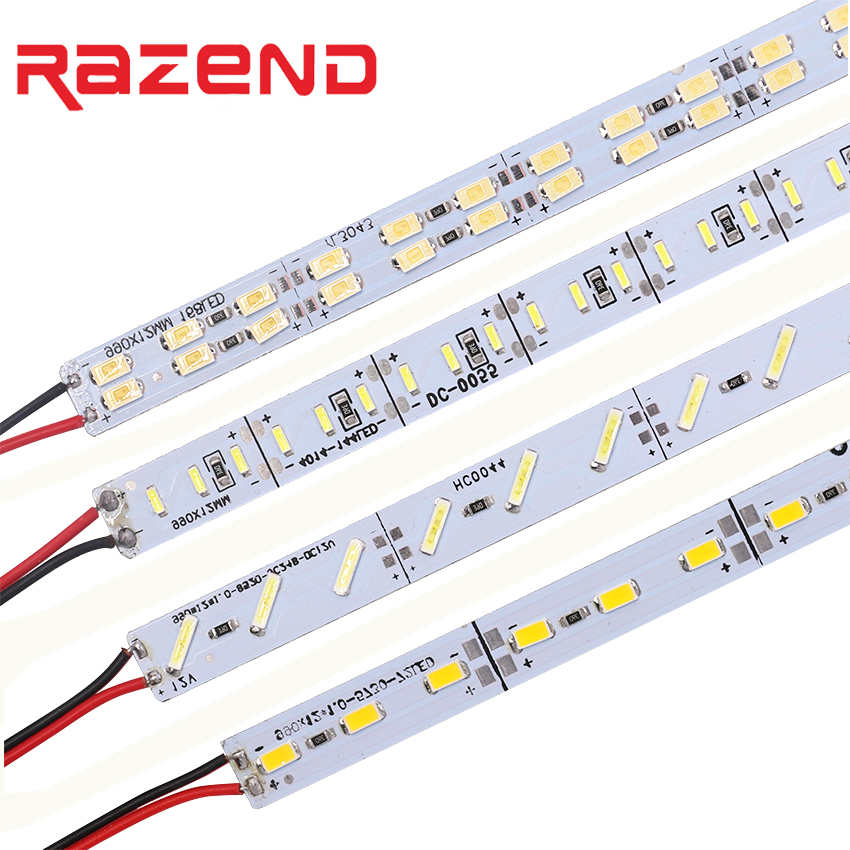 10pcs/lot 12V Hard LED Strip Aluminum Bar Light SMD 8520 4014 5630 Led Strip Light 50cm 36leds 72leds Cold White
