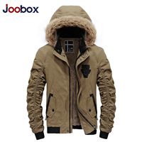 JOOBOX 2017 High Quality Winter Jacket Men Thicken Long Men S Winter Coat Hoded Cotton Men