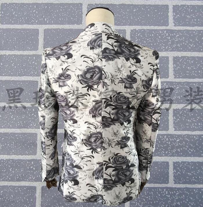 Abbigliamento abiti da uomo vestito di usura prestazioni masculino homme terno uomini stampa giacca danza costumi di scena per cantanti vestiti - 3