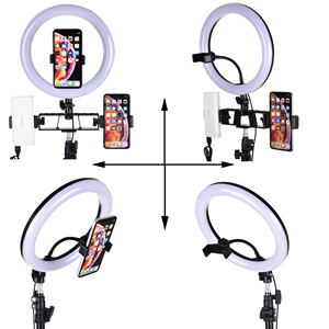 Image 2 - Selfie Video LED Ring Light Portable Photography Dimmable Lamp with Tripod Phone Holder for iPhone 11 12 Pro Max XS Galaxy Plus