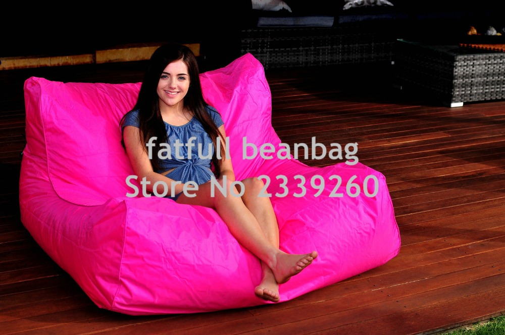 Us 55 0 Cover Only No Filler Hot Pink Oversize Bean Bag Chair Outdoor Waterproof Beanbag Sofa Seat External And Indoor Furniture Set In