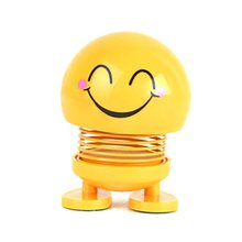 Creative Car Smiley Spring Doll Shaking Head Decoration Decompression Toy Accessories