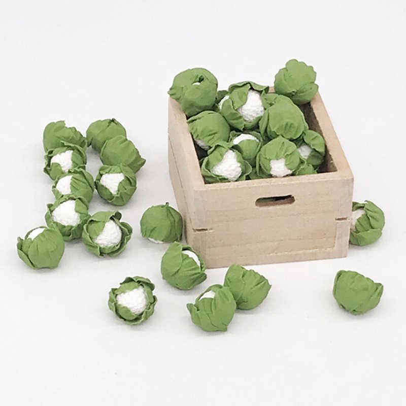 Мини Реалистичная глина для поделок овощи макеты кукольного домика цветная капуста китайская капуста для кукольной кухни 5 штук