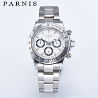 Parnis Drive Часы для мужчин кварцевые Пилот хронограф лучший бренд класса люкс бизнес сапфировое стекло часы с Тритиевой подсветкой Relogio Masculino