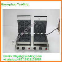 electric double end for waffle maker with heart shape