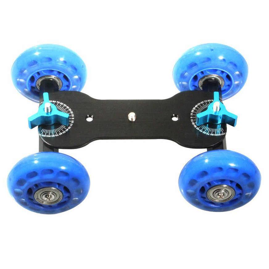 Хит продаж, настольный мини-автомобиль Dolly, Скейтер, трек, слайдер, супер беззвучный для DSLR камеры, видеокамеры (синий и черный)