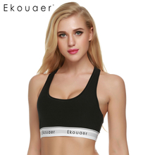 5914638e19362 Ekouaer Women Top Bra Vest Fitness Bralette Workout No Bounce Full Support  Seamless Bra Stretch Cotton Soft Full Cup Bra