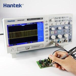 Image 3 - הדיגיטלי אוסצילוסקופ Hantek DSO5102P נייד 100MHz 2 ערוצים 1GSa/s שיא אורך 40K USB Osciloscopio כף יד אוסצילוסקופ