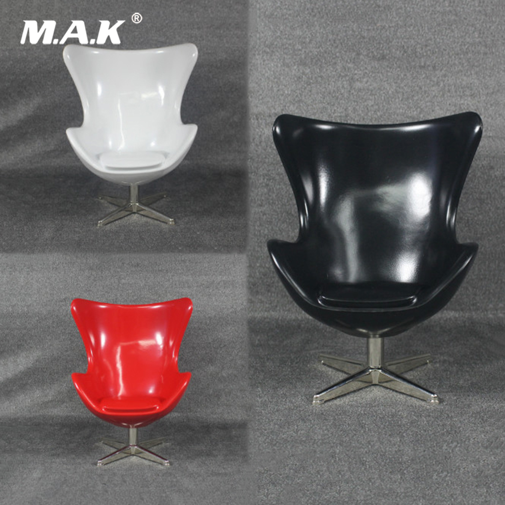 "ZY TOYS 1//6 Scale Red /& White Egg Space Chair Sofa For 12/"" Action Figure Body"