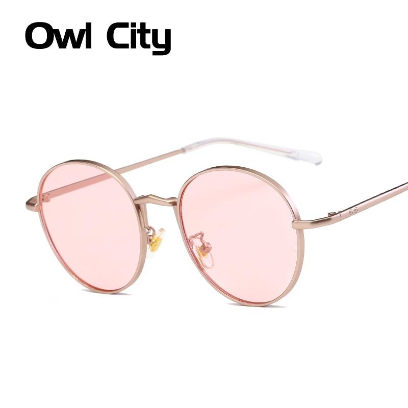 Owl City Fashion Round Sunglasses Women Brand Designer Classic Oval Sun Glasses For Female Male Eyewear Unisex Shades UV400