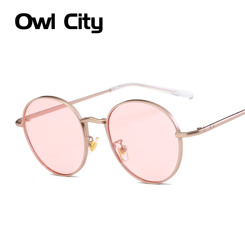 Owl City Fashion Runde Solbriller Kvinner Brand Designer Classic Oval Sun Glasses For Female Male Eyewear Unisex Shades UV400