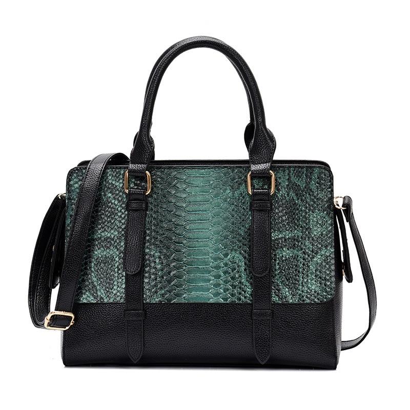 2019 New Handbag Trend Line Embossed Women's Shoulder Bag Crocodile Pattern Fashion Wild Women Bag