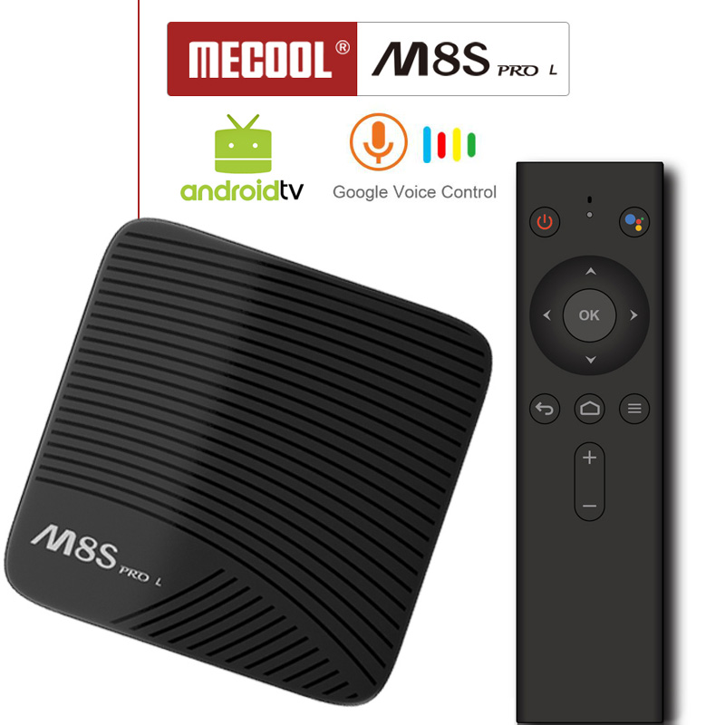 Google Voice Bluetooth Remote Control Smart TV Box Android 7.1 Amlogic S912 3G 16G/32G TVbox Youtube 4K Ultra HD Movie M8S pro L