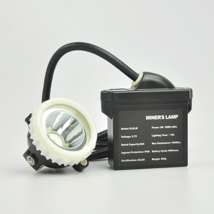 KL6LM mine special lights night fishing outdoor fishing hunting LED headlights with line waterproof explosion proof