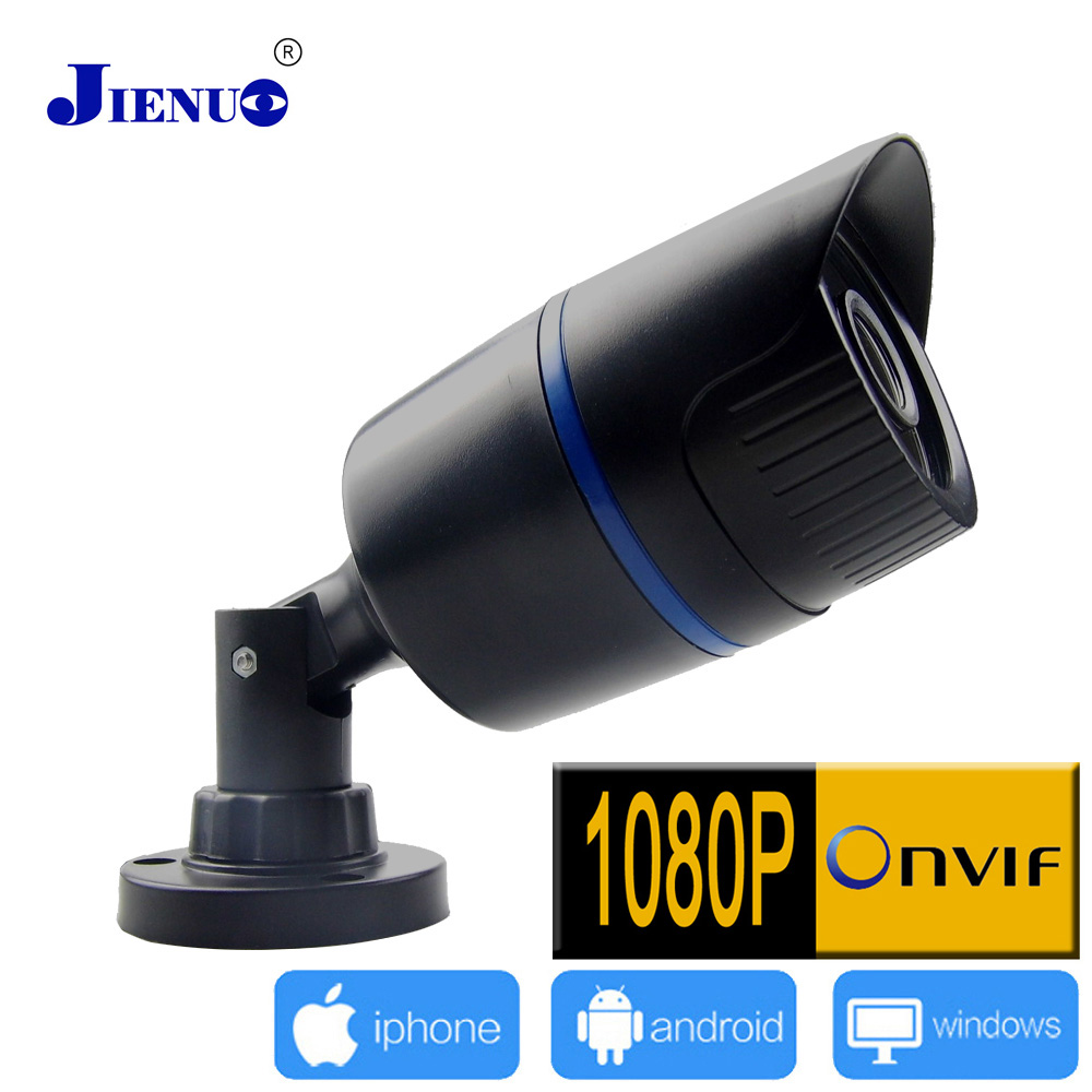 2MP HD H.264 Onvif 2.0 P2p CCTV Surveillance Security Home Network Video Webcam Waterproof Bullet Ip Camera 1080P Ip KameraJIENU hot sales mini wifi surveillance 1080p 2 0mp hd network cctv security indoor network ip camera onvif h 264 small home video cam