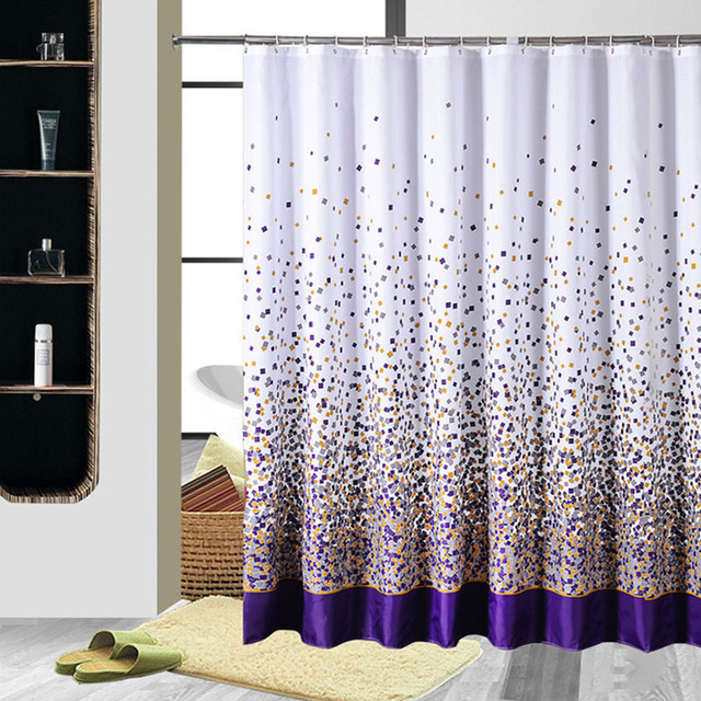 180X180CM Modern Designer Purple Waterproof Fabric Shower Curtains ...