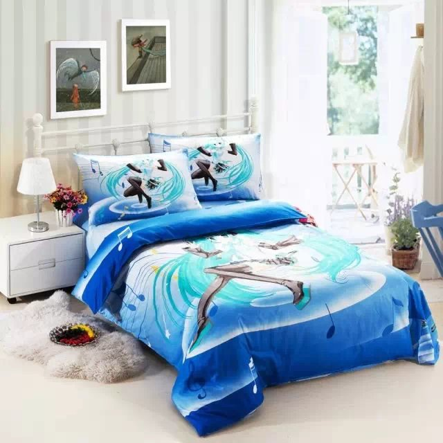 Popular music comforter buy cheap music comforter lots from china music comforter suppliers on - Blue beds for girls ...