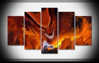 Art Abstract Indoor Decor 20x35cmx2,20x45cmx2,20x55cm kyuubi Naruto print poster canvas in 5 pieces