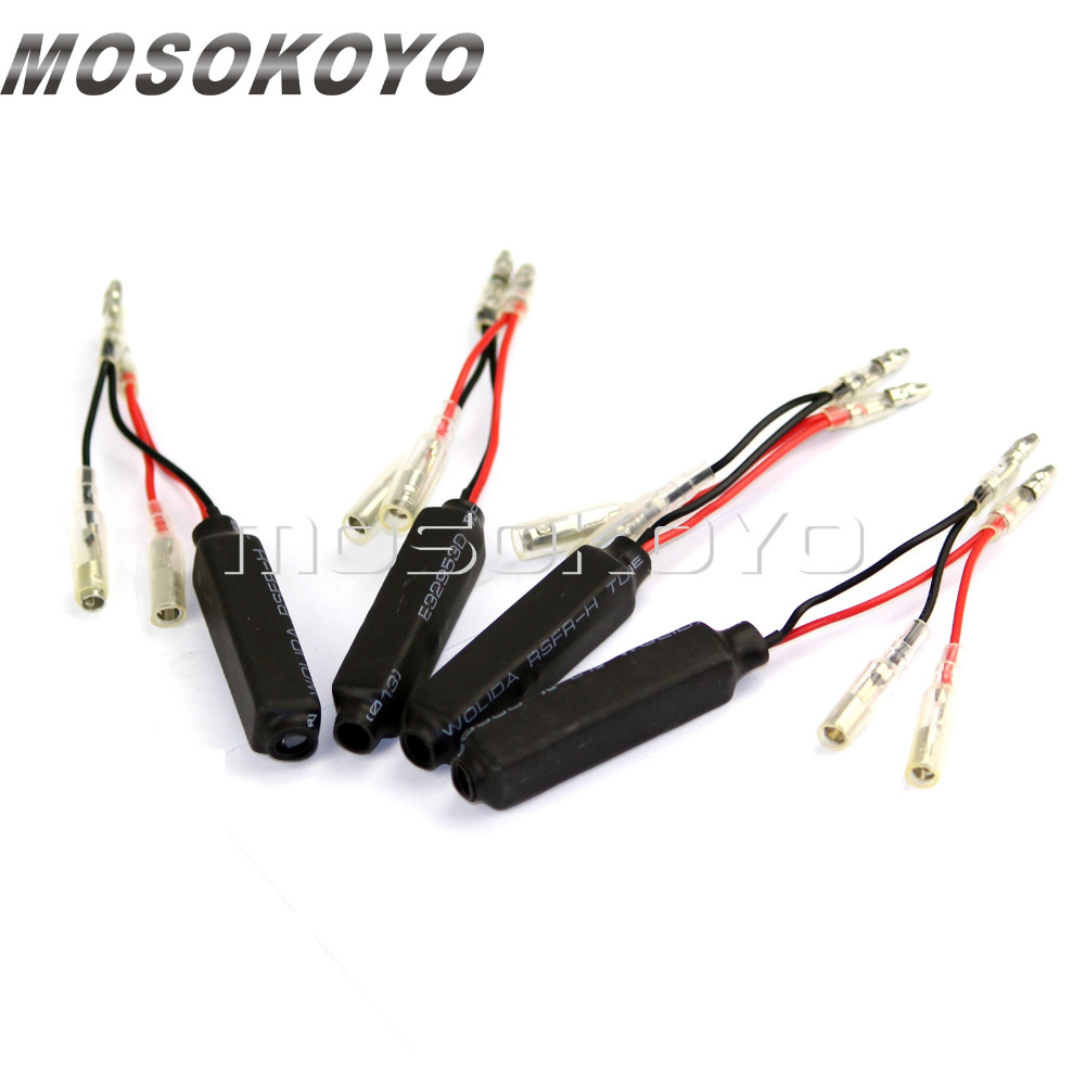 4pcs Motorcycle 12V 10 W 10 Ohms LED Flasher Resistor Indicator Load Fix Error Adapter Universal