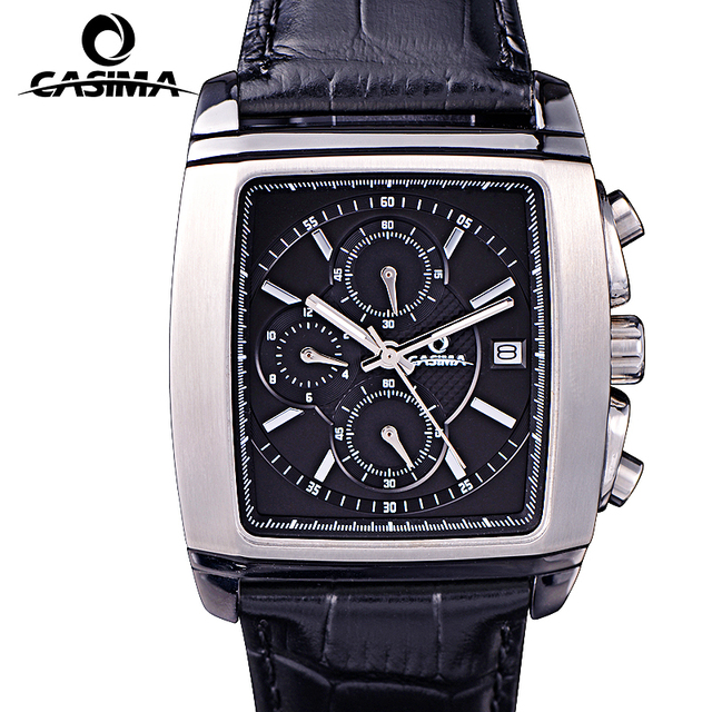 Casima Men Watches Top Brand Luxury Reloj Hombre Clock Relogio Masculino Business Dress Rectangle Dial Quartz Watch Montre Homme