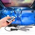 POSSBAY Controle Remoto e Controle Remoto + Controle de Voz Da Música DC 12 V Luzes de Tira RGB Piso Interior Do Carro Decorativo Para A4 A6 Sotaque