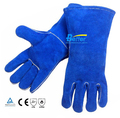 14 inch welding safety gloves high temperature tools sweat absorbing genuine leather welder work glove