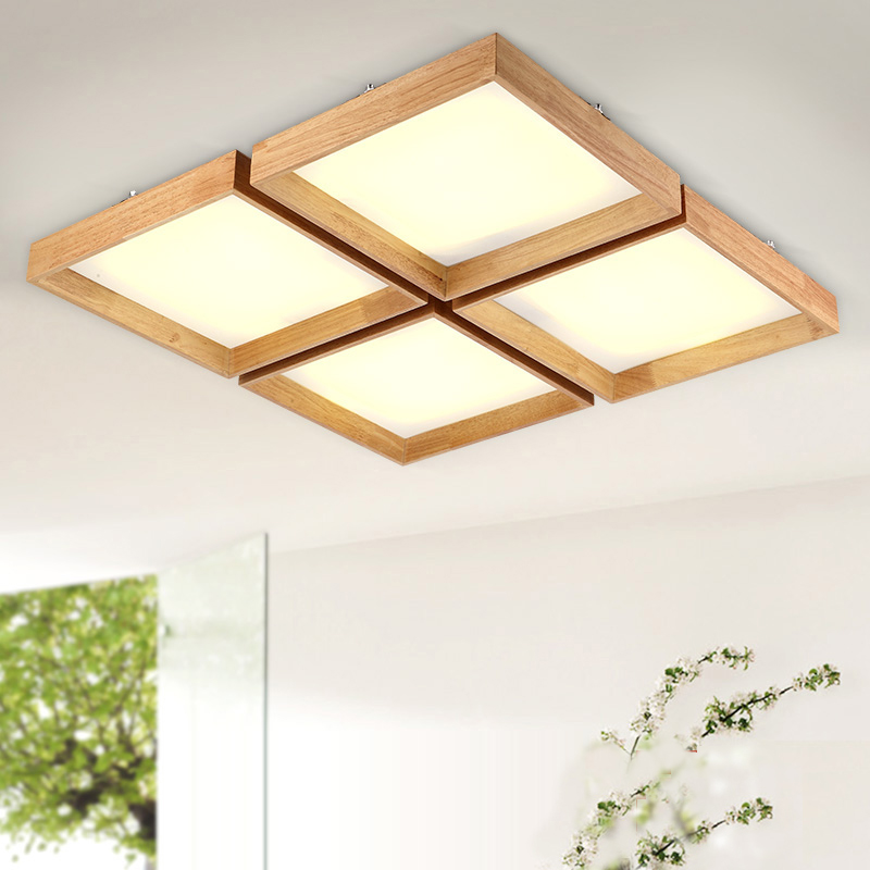 Square Simple Touch Nordic Chinese Japanese Style LED Wooden Acrylic Ceiling Light For foyer Study Bedroom Balcony HallwaySquare Simple Touch Nordic Chinese Japanese Style LED Wooden Acrylic Ceiling Light For foyer Study Bedroom Balcony Hallway