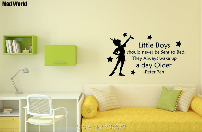 Mad World little boys should never be send to bed Wall Art Stickers ...